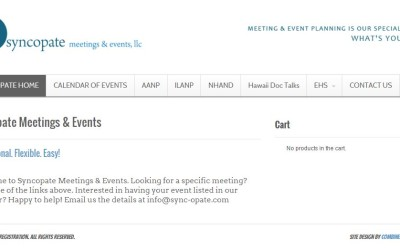 Syncopate EVENTS website